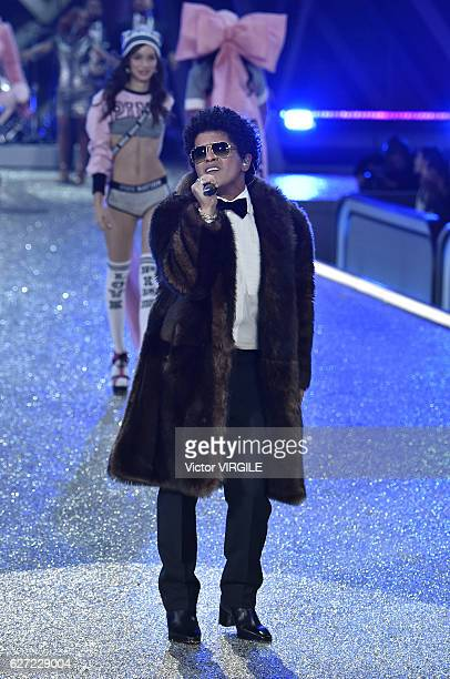 Bruno Mars walks the runway during the 2016 Victoria's Secret Fashion Show on November 30 2016 in Paris France