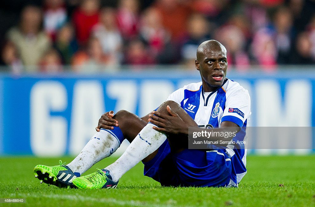 <a gi-track='captionPersonalityLinkClicked' href=/galleries/search?phrase=Bruno+Martins+Indi&family=editorial&specificpeople=7155940 ng-click='$event.stopPropagation()'>Bruno Martins Indi</a> of FC Porto reacts during the UEFA Champions League Group H match between Athletic Club and FC Porto at San Mames Stadium on November 5, 2014 in Bilbao, Spain.
