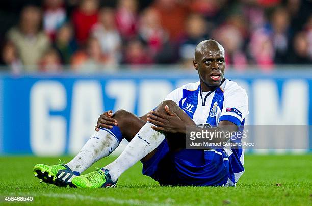 Bruno Martins Indi of FC Porto reacts during the UEFA Champions League Group H match between Athletic Club and FC Porto at San Mames Stadium on...