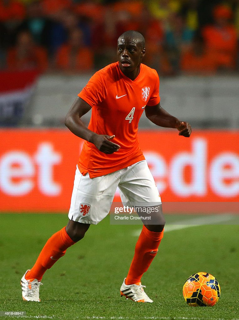 <a gi-track='captionPersonalityLinkClicked' href=/galleries/search?phrase=Bruno+Martins+Indi&family=editorial&specificpeople=7155940 ng-click='$event.stopPropagation()'>Bruno Martins Indi</a> of Holland attacks during the International Friendly match between The Netherlands and Ecuador at The Amsterdam Arena on May 17, 2014 in Amsterdam, Netherlands.