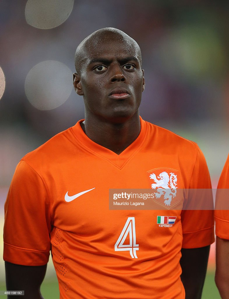 <a gi-track='captionPersonalityLinkClicked' href=/galleries/search?phrase=Bruno+Martins+Indi&family=editorial&specificpeople=7155940 ng-click='$event.stopPropagation()'>Bruno Martins Indi</a> of Netherlands during the international friendly match between Italy and Nethrerlands at Stadio San Nicola on September 4, 2014 in Bari, Italy.