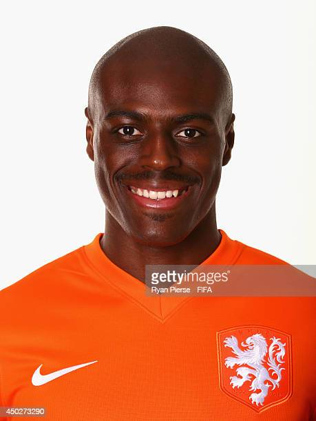 Bruno Martins Indi of Netherlands poses during the official FIFA World Cup 2014 portrait session on June 7 2014 in Rio de Janeiro Brazil