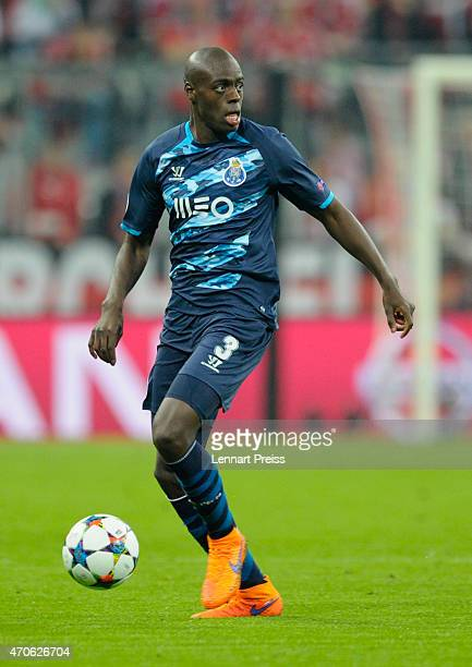 Bruno Martins Indi of Porto in action during the UEFA Champions League quarter final second leg match between FC Bayern Muenchen and FC Porto at...