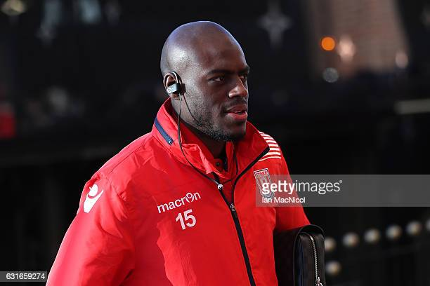 Bruno Martins Indi of Stoke City arrives prior to the Premier League match between Sunderland and Stoke City at Stadium of Light on January 14 2017...