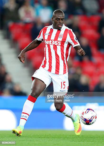Bruno Martins Indi of Stoke City during the EFL Cup Third Round match between Stoke City and Hull City at Bet365 Stadium on September 21 2016 in...