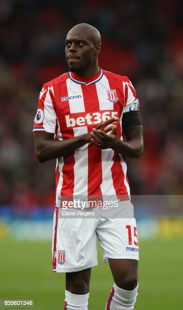 Bruno Martins Indi of Stoke City looks on during the Premier League match between Stoke City and Arsenal at Bet365 Stadium on August 19 2017 in Stoke...