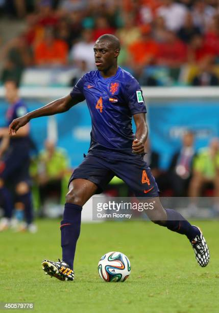 Bruno Martins Indi of the Netherlands controls the ball during the 2014 FIFA World Cup Brazil Group B match between Spain and Netherlands at Arena...