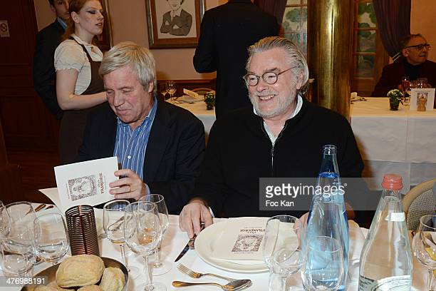 Bruno Masure and Christian Rault attend the 'ADMD' Cocktail Dinner At Francoise on March 4 2014 in Paris France