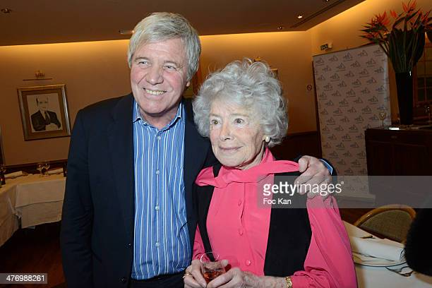 Bruno Masure and Claude Sarraute attend the 'ADMD' Cocktail Dinner At Francoise on March 4 2014 in Paris France