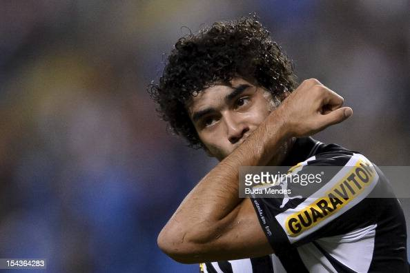 Bruno Mendes of Botafogo celebrates a scored goal during a match between Botafogo and Vasco as part of the Brazilian Championship Serie A at Engenhao...