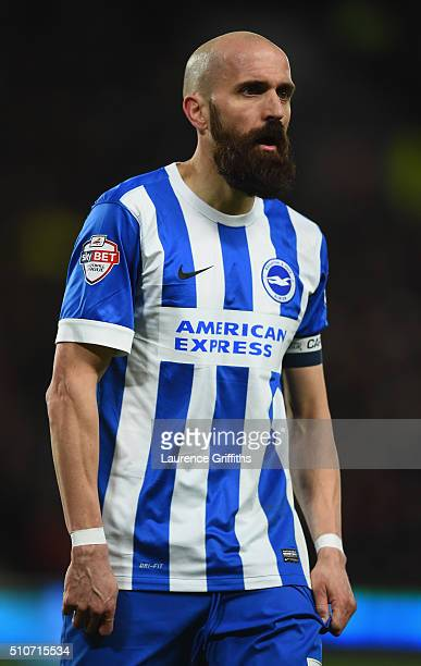 Bruno of Brighton and Hove Albion looks on during the Sky Bet Championship match between Hull City and Brighton and Hove Albion at KC Stadium on...