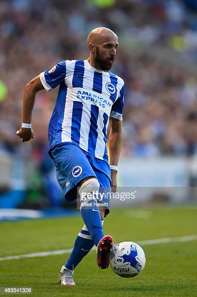 Bruno of Brighton in action during the Sky Bet Championship match between Brighton Hove Albion and Nottingham Forest at Amex Stadium on August 7 2015...