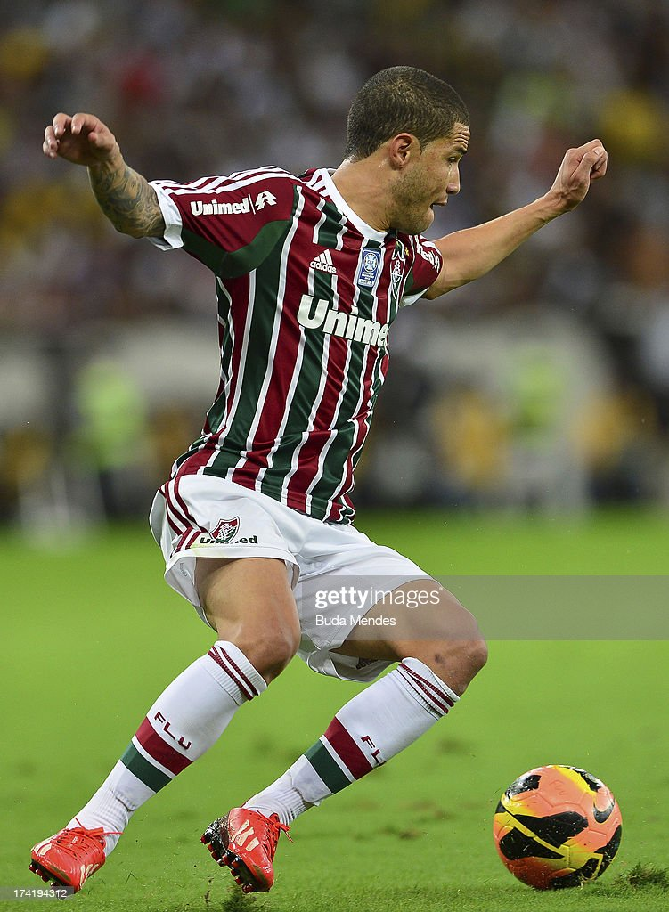 Bruno of Fluminense in action during a match between Fluminense and Vasco as part of Brazilian Championship 2013 at Maracana Stadium on July 21, 2013 in Rio de Janeiro, Brazil.