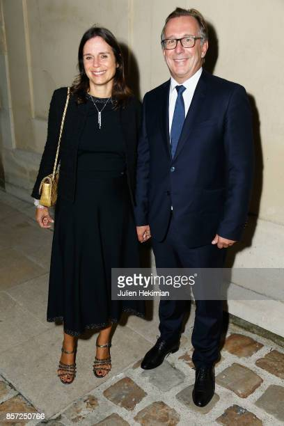 Bruno Pavlovsky and his wife Nathalie attend the Chanel 'Code Coco' Watch Launch Party as part of the Paris Fashion Week Womenswear Spring/Summer...