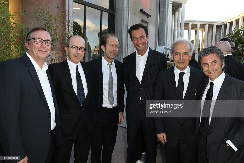 Bruno Pavlovsky, Jean Marc Loubier, guest, Pierre Yves Roussel, Ralf Toledano and Marco Gobbetti attend the Chambre Syndicale de la Haute Couture cocktail party at Palais De Tokyo on July 4, 2013 in Paris, France.