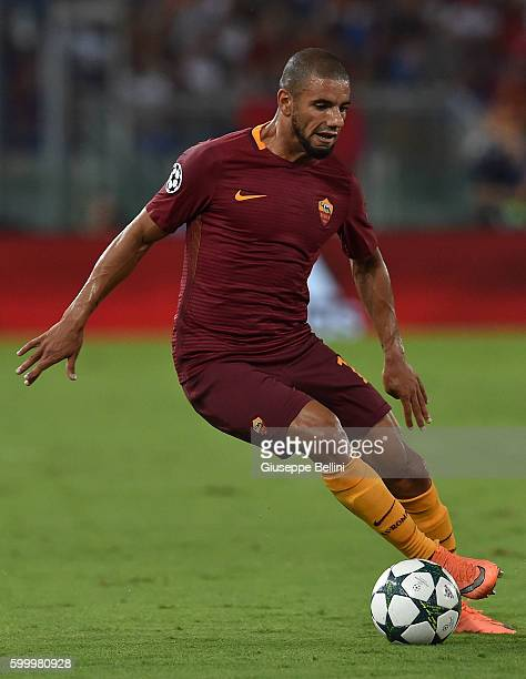 Bruno Peres of AS Roma in action during the UEFA Champions League qualifying playoffs match between FC Porto and AS Roma on August 23 2016 in Rome...