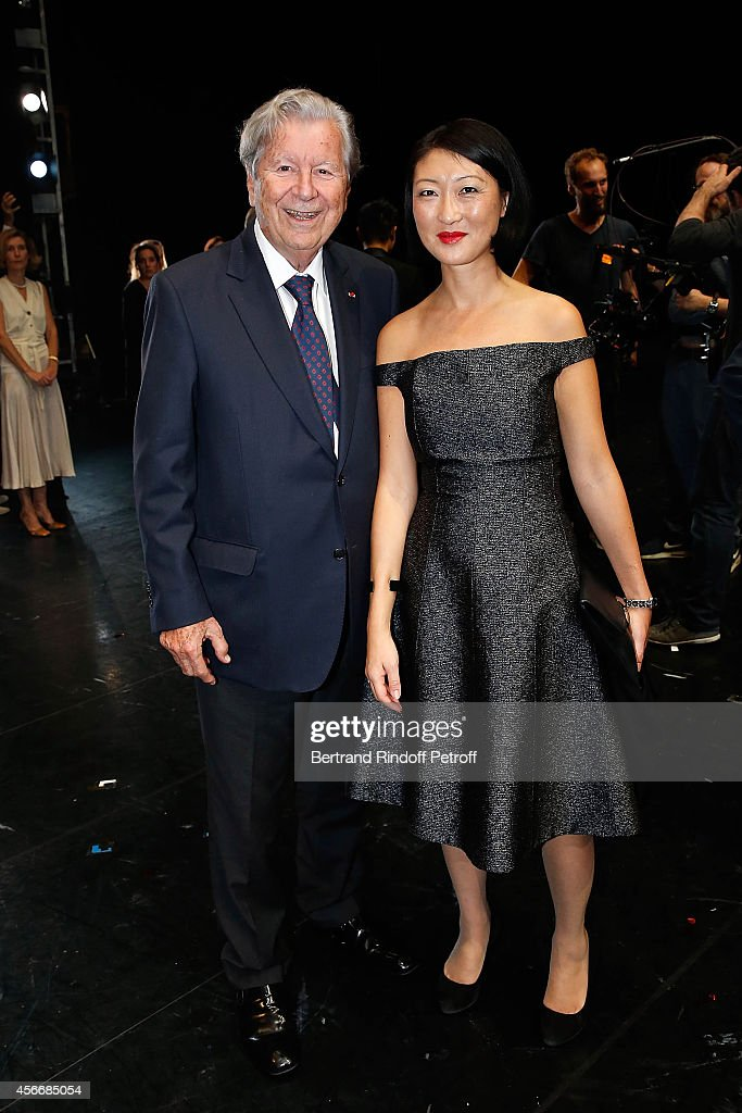 Bruno Roger and French Minister of Culture <a gi-track='captionPersonalityLinkClicked' href=/galleries/search?phrase=Fleur+Pellerin&family=editorial&specificpeople=8784076 ng-click='$event.stopPropagation()'>Fleur Pellerin</a> attend for the tribute to Brigitte Lefevre on October 4, 2014 in Paris, France.