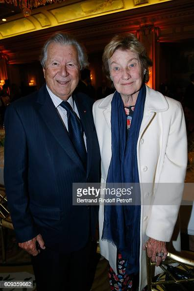 Bruno Roger and Marisa BruniTedeschi attend the Charity Dinner to Benefit 'Claude Pompidou Foundation' following the 'Cezanne et Moi' movie Premiere...