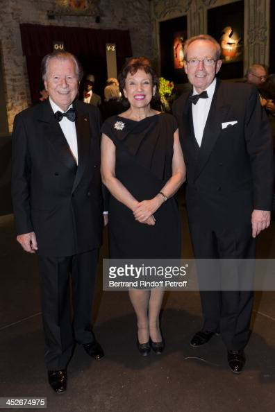 Bruno Roger President of Banque Lazard Roselyne Bachelot Narquin and Renaud Donnedieu de Vabres attends the Mimi Foundation gala dinner at Musee des...