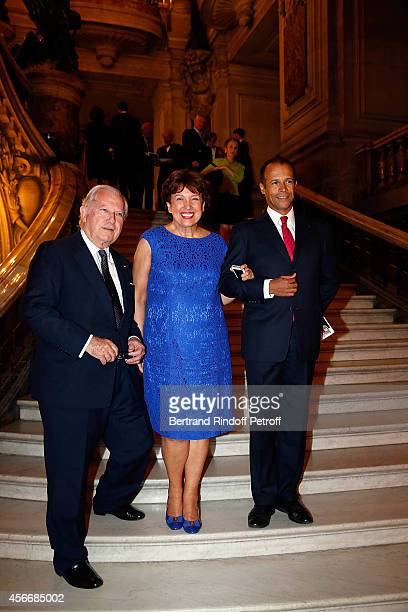 Bruno Roger Roselyne Bachelot and Eric Vu An attend for the tribute to Brigitte Lefevre on October 4 2014 in Paris France