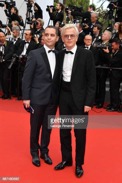 Bruno Sanches and Alex Lutz attend the 70th Anniversary screening during the 70th annual Cannes Film Festival at Palais des Festivals on May 23 2017...