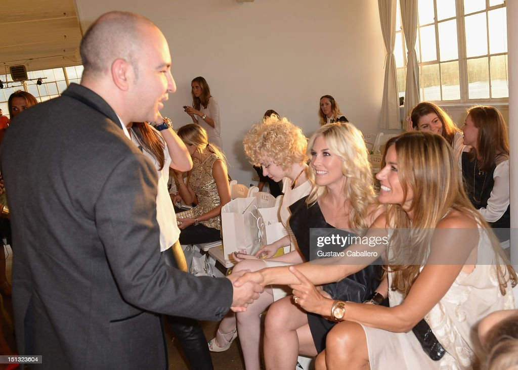 Bruno Schiavi,Tinsley Mortimer and Kelly Bensimoni attends NYFW S/S 2013: 'PIJU' Collection Launch at New York Fashion Palette at Dream Downtown on September 5, 2012 in New York City.