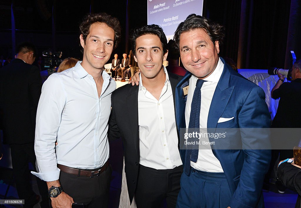 <a gi-track='captionPersonalityLinkClicked' href=/galleries/search?phrase=Bruno+Senna&family=editorial&specificpeople=709024 ng-click='$event.stopPropagation()'>Bruno Senna</a>, <a gi-track='captionPersonalityLinkClicked' href=/galleries/search?phrase=Lucas+di+Grassi&family=editorial&specificpeople=4237493 ng-click='$event.stopPropagation()'>Lucas di Grassi</a> and <a gi-track='captionPersonalityLinkClicked' href=/galleries/search?phrase=Giorgio+Veroni&family=editorial&specificpeople=570237 ng-click='$event.stopPropagation()'>Giorgio Veroni</a> attend the global launch of the FIA Formula E Championship, celebrating the founding of the first ever all-electric race series, at The Roundhouse on June 30, 2014 in London, England.