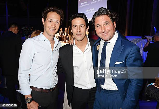 Bruno Senna Lucas di Grassi and Giorgio Veroni attend the global launch of the FIA Formula E Championship celebrating the founding of the first ever...