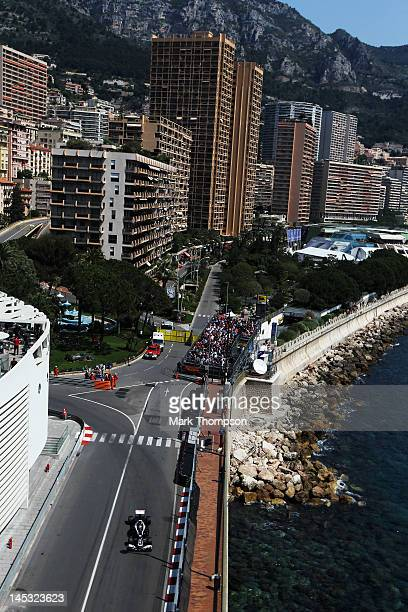 Bruno Senna of Brazil and Williams drives during the final practice session prior to qualifying for the Monaco Formula One Grand Prix at the Circuit...