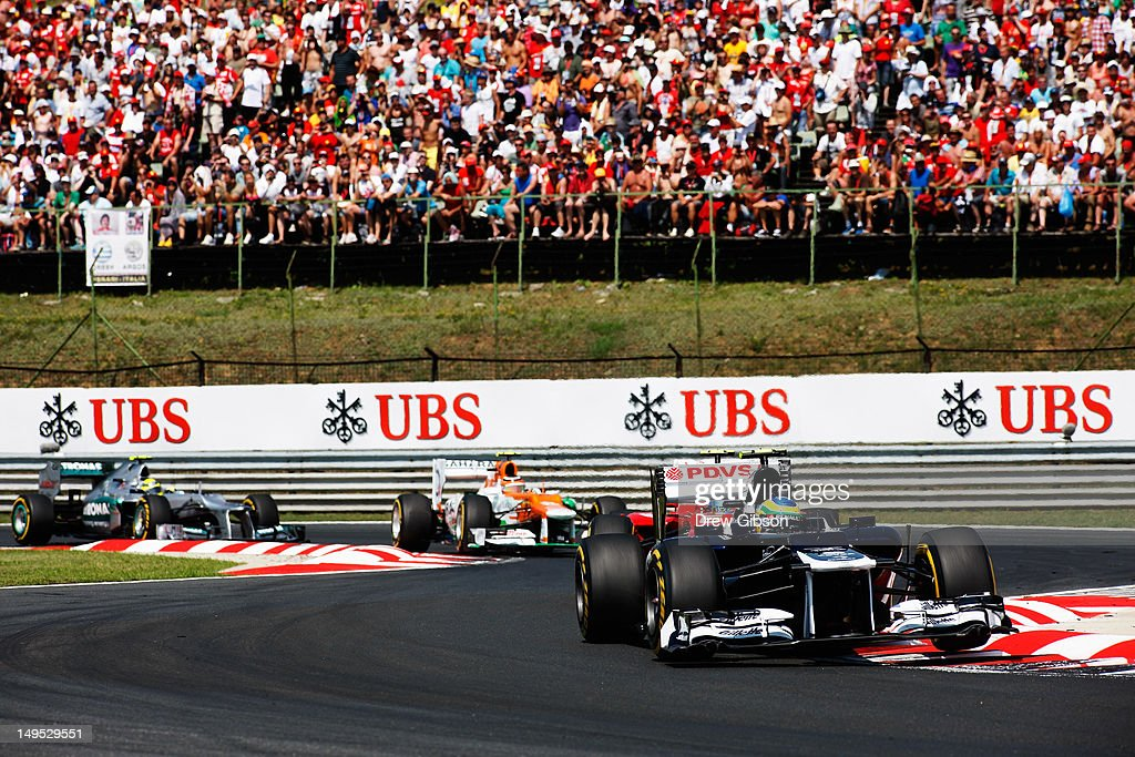 Bruno Senna of Brazil and Williams drives during the Hungarian Formula One Grand Prix at the Hungaroring on July 29, 2012 in Budapest, Hungary.