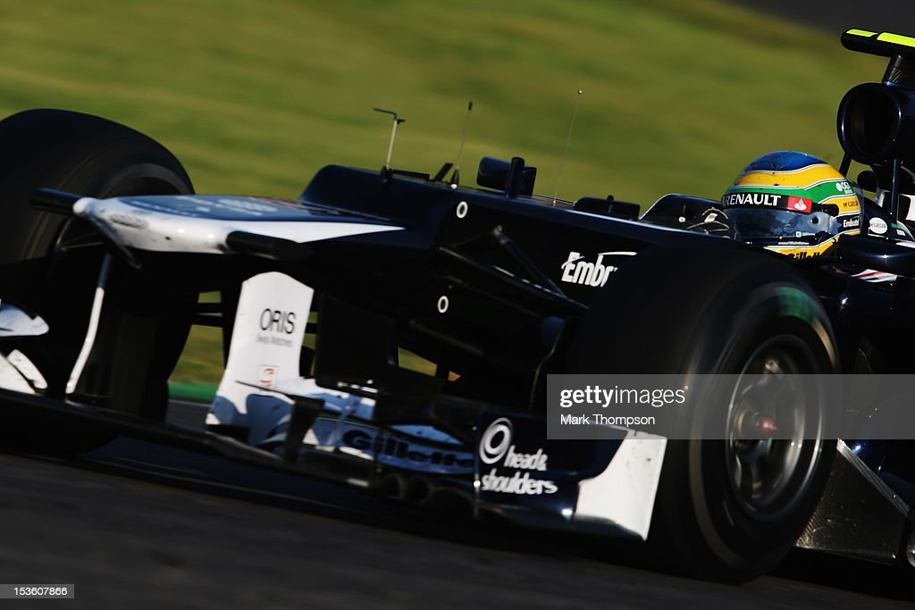 Bruno Senna of Brazil and Williams drives during the Japanese Formula One Grand Prix at the Suzuka Circuit on October 7, 2012 in Suzuka, Japan.