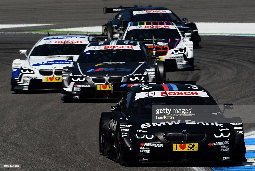 <a gi-track='captionPersonalityLinkClicked' href=/galleries/search?phrase=Bruno+Spengler&family=editorial&specificpeople=661006 ng-click='$event.stopPropagation()'>Bruno Spengler</a> of Canada and BMW Team Schnitzer drives the first round of the DTM 2013 German Touring Car Championship at Hockenheimring on May 5, 2013 in Hockenheim, Germany.