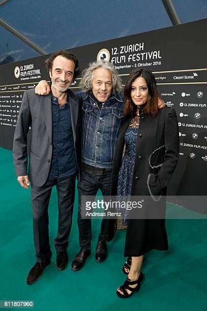 Bruno Todeschini Rolando Colla and Alessia Barela attend the 'Sette Giorni' Photocall during the 12th Zurich Film Festival on October 1 2016 in...