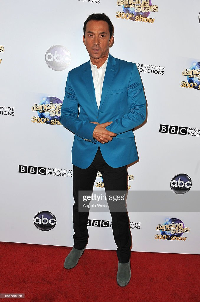 <a gi-track='captionPersonalityLinkClicked' href=/galleries/search?phrase=Bruno+Tonioli&family=editorial&specificpeople=742704 ng-click='$event.stopPropagation()'>Bruno Tonioli</a> arrives at ABC's 'Dancing With The Stars' 300th Episode Celebration at Boulevard3 on May 14, 2013 in Hollywood, California.