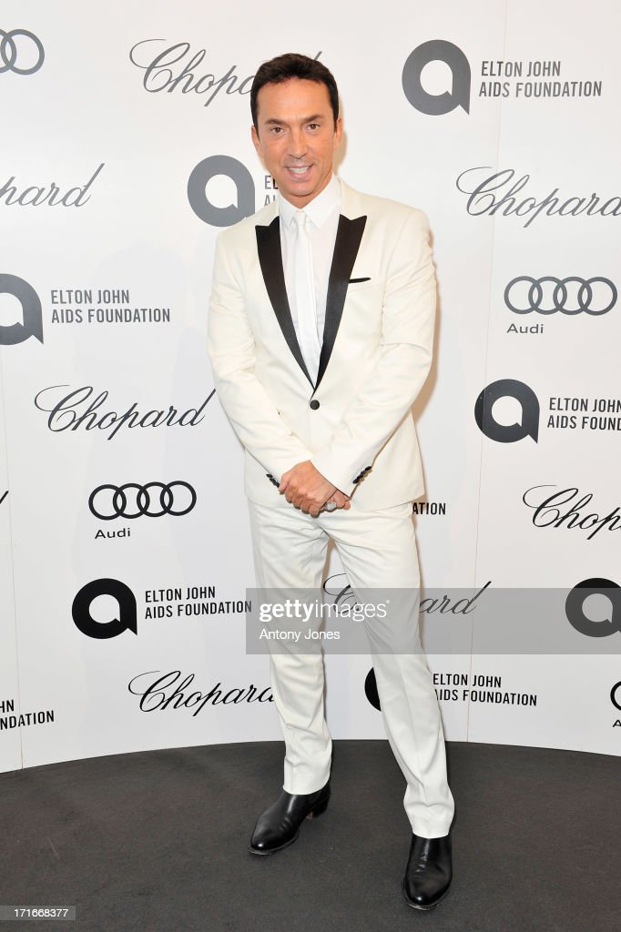 Bruno Tonioli attends the 15th Annual White Tie and Tiara Ball to Benefit Elton John AIDS Foundation in Association with Chopard at Woodside on June 27, 2013 in Windsor, England. No sales to online/digital media worldwide until the 14th of July. No sales before July 14th, 2013 in UK, Spain, Switzerland, Mexico, Dubai, Russia, Serbia, Bulgaria, Turkey, Argentina, Chile, Peru, Ecuador, Colombia, Venezuela, Puerto Rico, Dominican Republic, Greece, Canada, Thailand, Indonesia, Morocco, Malaysia, India, Pakistan, Nigeria. All pictures are for editorial use only and mention of 'Chopard' and 'The Elton John Aids Foundation' are compulsory. No sales ever to Ok, Now, Closer, Reveal, Heat, Look or Grazia magazines in the United Kingdom. No sales ever to any jewellers or watchmakers other than Chopard