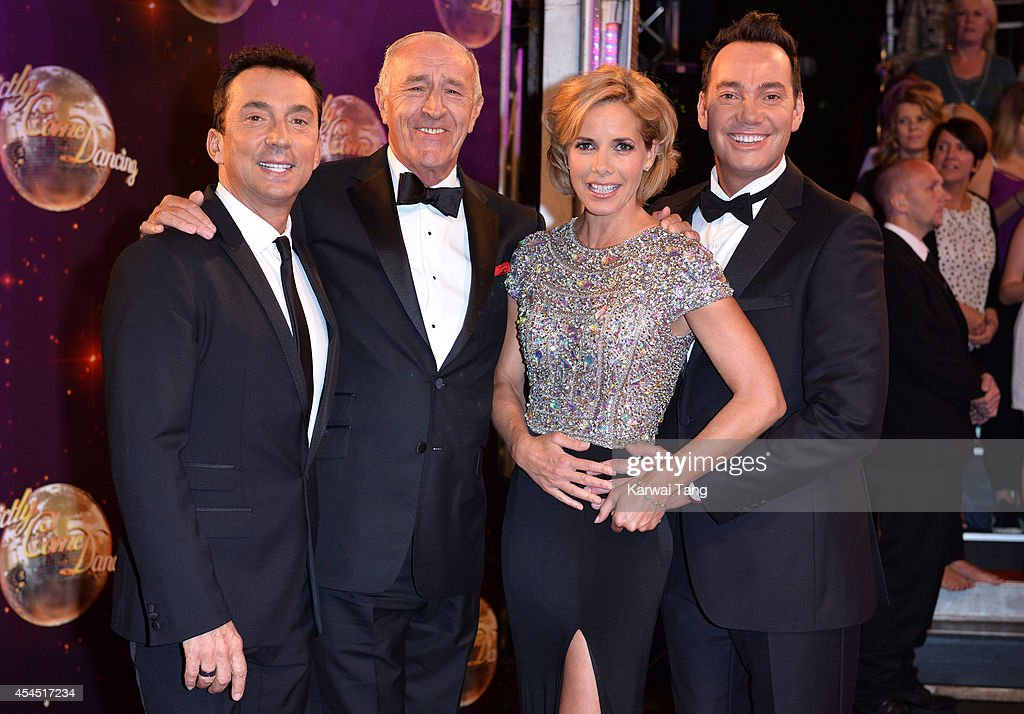 Bruno Tonioli, Len Goodman, Darcey Bussell and Craig Revel Horwood attend the red carpet launch for Strictly Come Dancing 2014 at Elstree Studios on September 2, 2014 in Borehamwood, England.