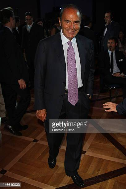 Bruno Vespa attends the Palinsesti Rai photocall at Cavalieri Hilton Hotel on June 20 2012 in Rome Italy