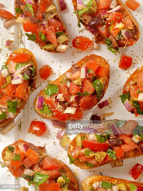 Bruschetta on Toasted Baguettes