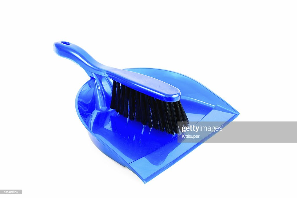 brush and dustpan blue color