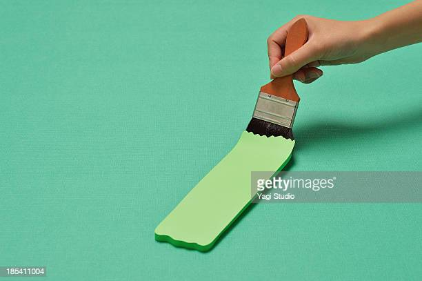 Brush and painting green