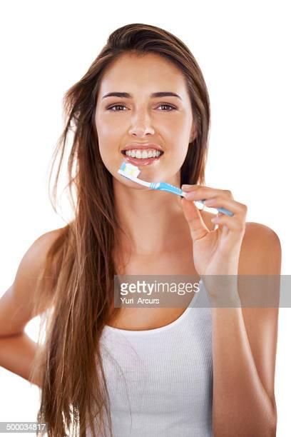 Brush them pearly whites