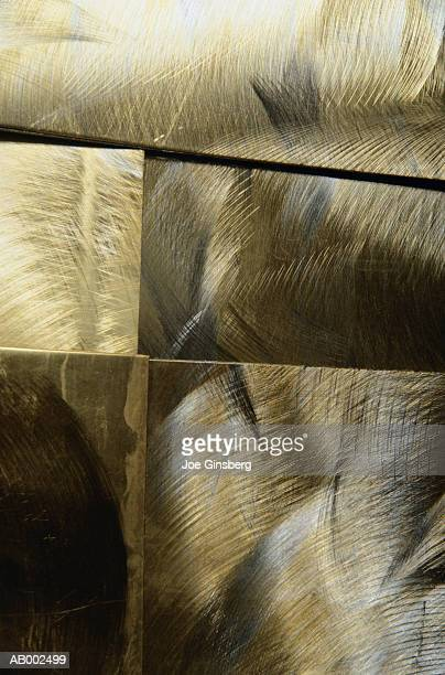 Brushed Gold and Silver Surface