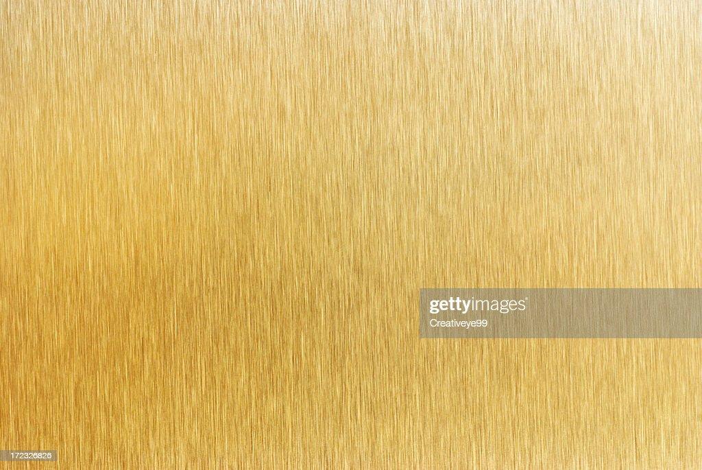 Brushed gold metal surface
