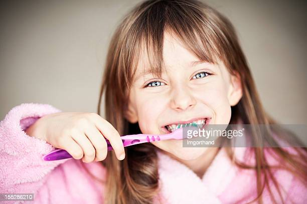 Brushing teeth is fun