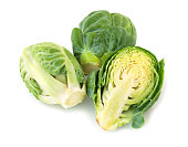 Brussel sprouts isolated on white background