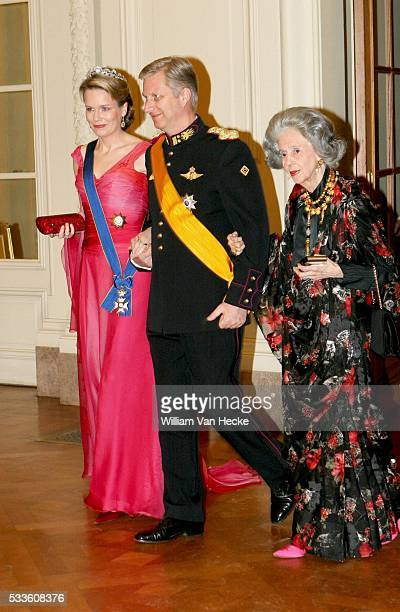Brussel/Belgium March 20th 2007 Grand Duke HENRI and Grand Duchess MARIA TERESA of Luxembourg were invited at the galadinner hosted by King Albert...
