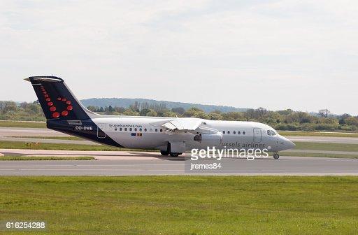 Brussels Airlines Avro RJ100 : Foto de stock