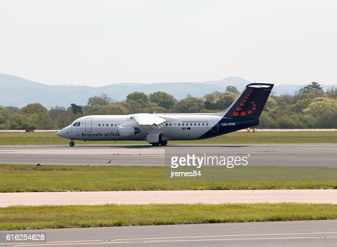 Brussels Airlines Avro RJ100 : Foto de stock