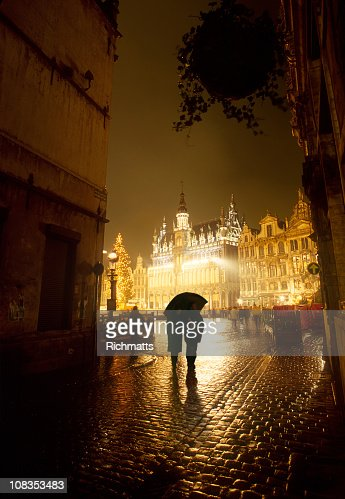 Brussels at Night : Stock Photo