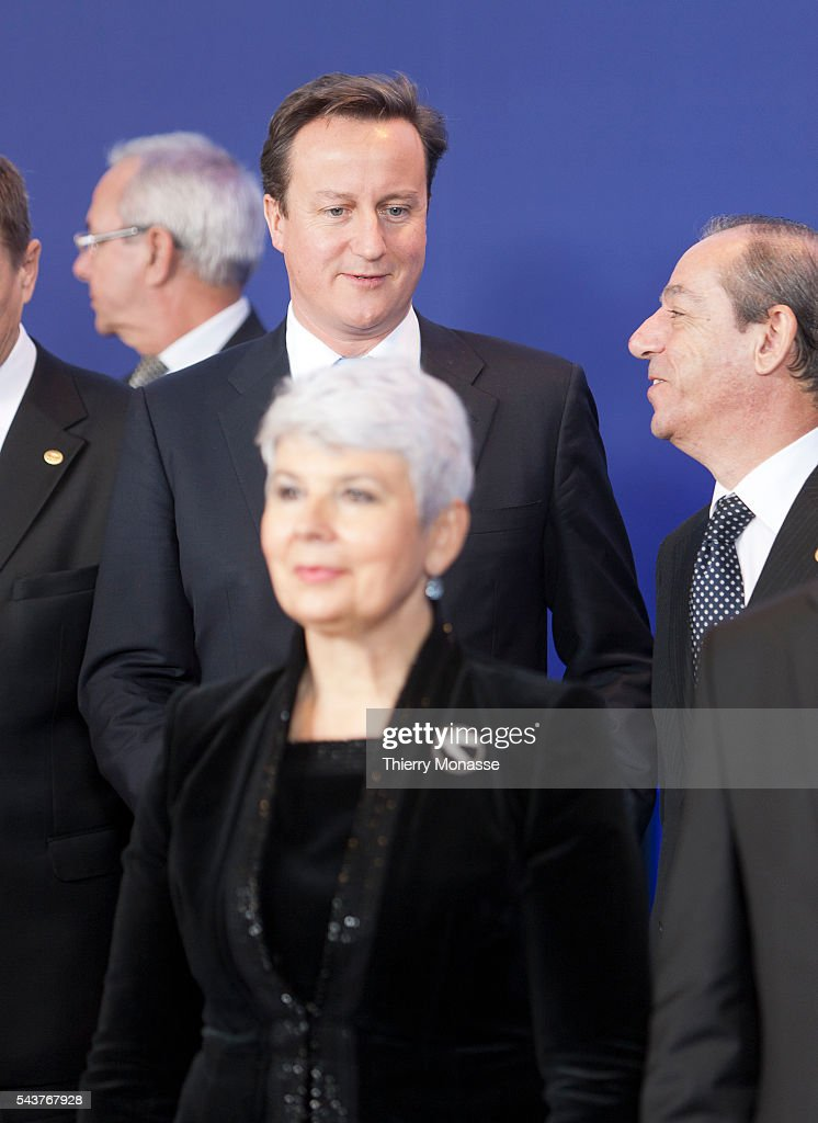 Brussels Belgium December 9 2011 British Prime Minister First Lord of the Treasury Minister for the Civil Service David William Donald CAMERON 5...